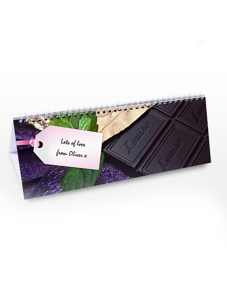 Personalised Milk Chocolate Desk Calendar