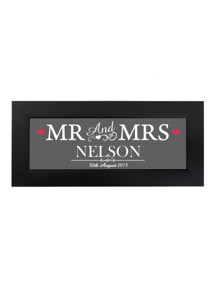 Personalised Mr & Mrs Print in Small Frame