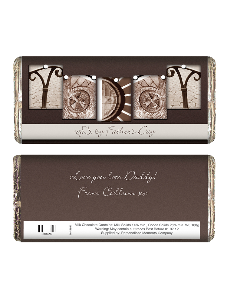 Personalised Affection Art Daddy Milk Chocolate Bar