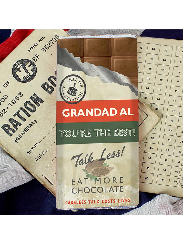 Personalised Nostalgia Milk Chocolate Bar