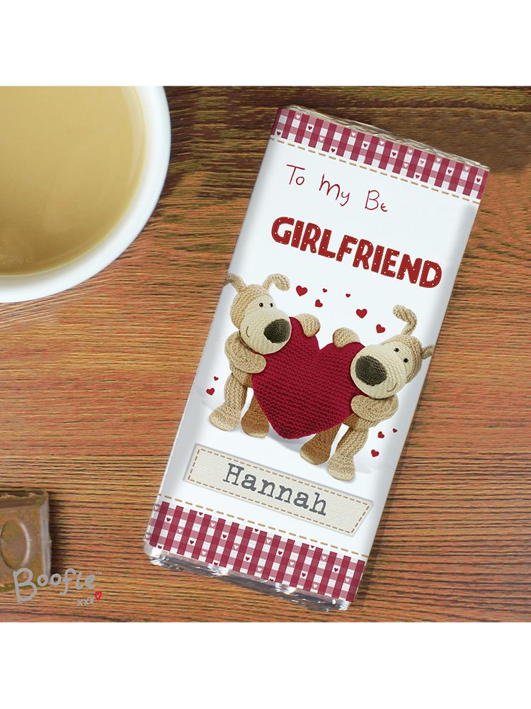Personalised Boofle Shared Heart Milk Chocolate Bar