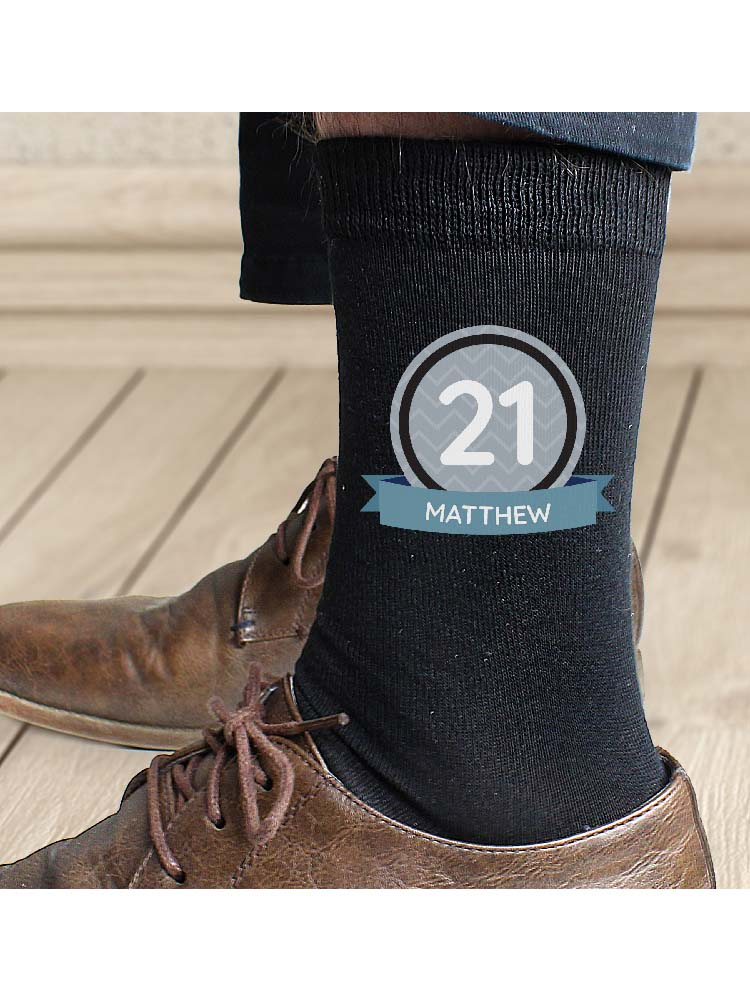 Personalised Birthday Men's Socks