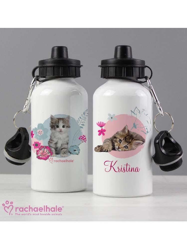 Personalised Rachael Hale Cute Kitten Drinks Bottle
