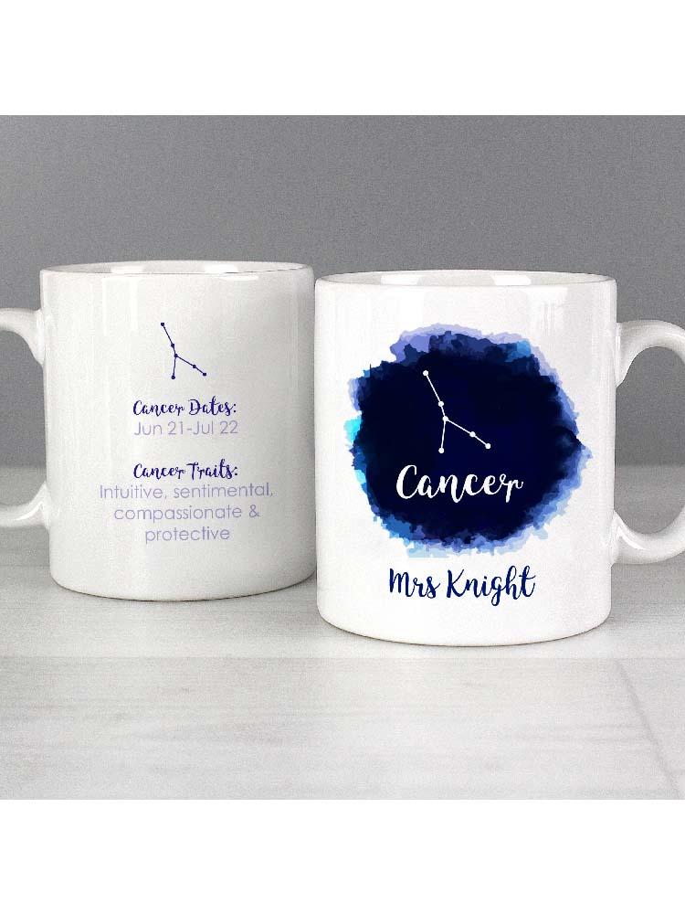 Personalised Cancer Zodiac Star Sign Mug (June 21st - July 22nd)