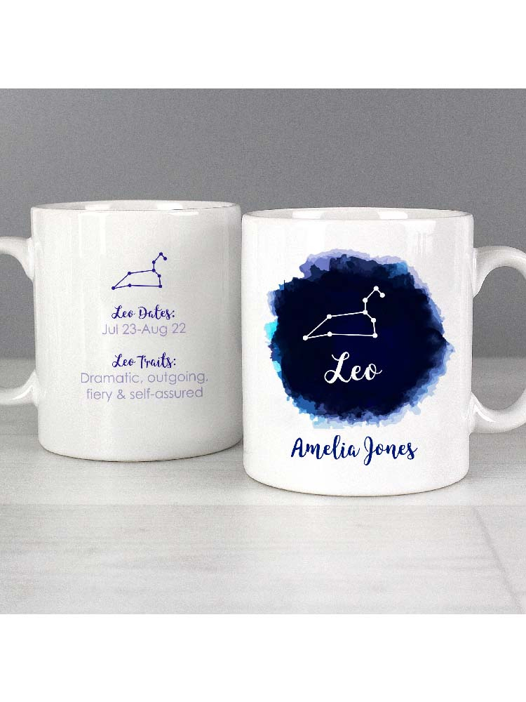 Personalised Leo Zodiac Star Sign Mug (July 23rd - August 22nd)