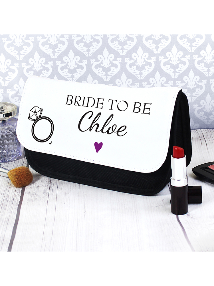 Personalised Wedding Make Up Bag