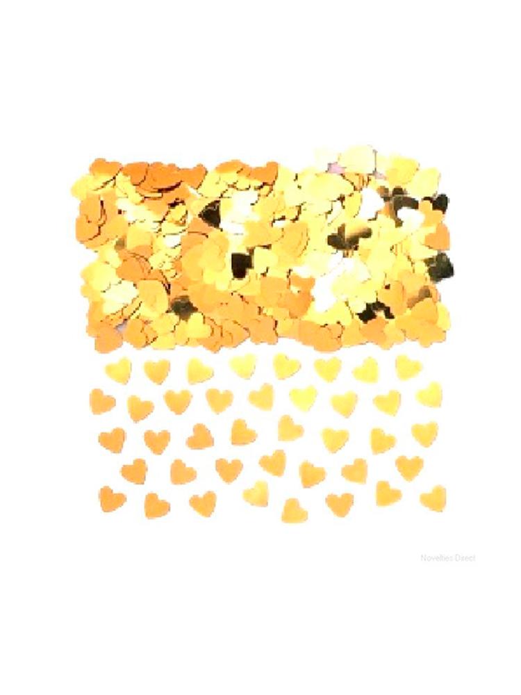Confetti Gold Hearts - Massive Bags.  Buy 1 get 1 Free (2 x bag 84g)