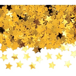 Confetti Gold Jumbo Stars Buy 1 get the other Free (2 x bag 84g)