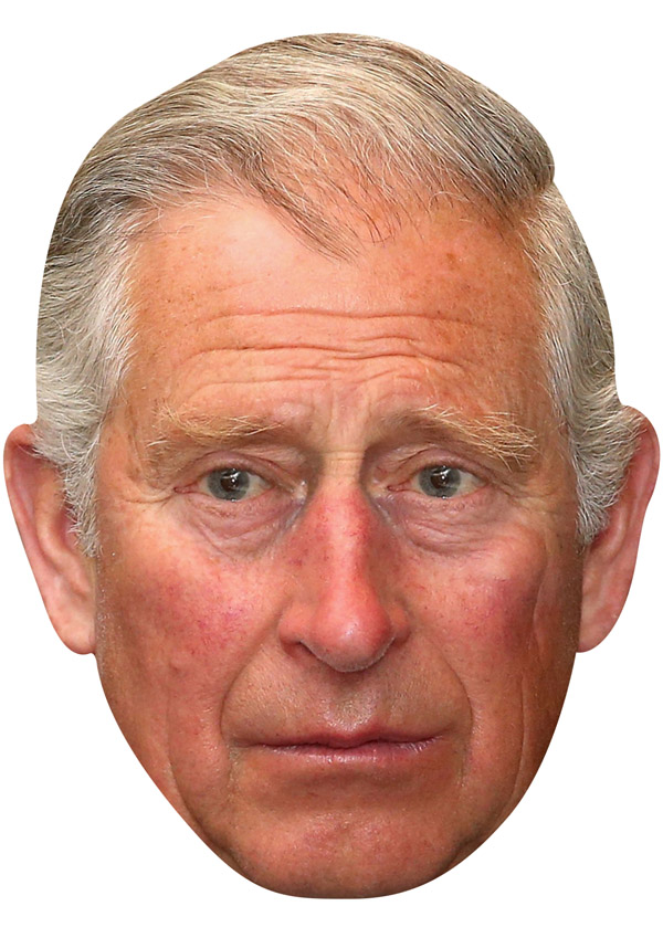 Funny Prince Charles Royal Celebrity Card Mask!