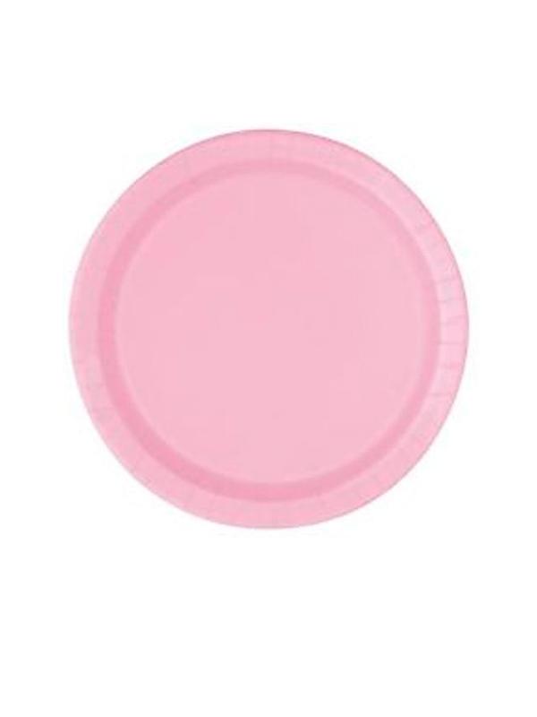 """Pastel Pink 9"""" Paper Plates (PK 8)"""