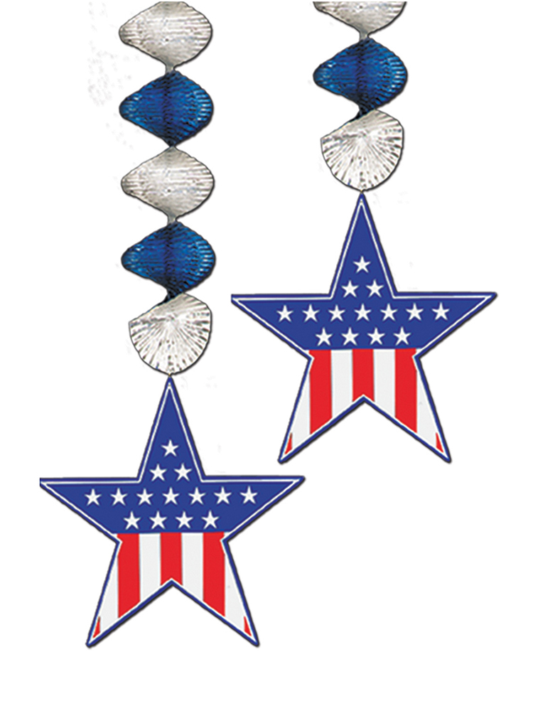 USA Star Danglers