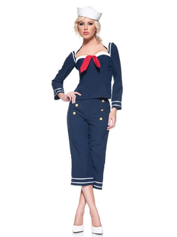 Pin Up Sailor Girl (Top Pants Hat)
