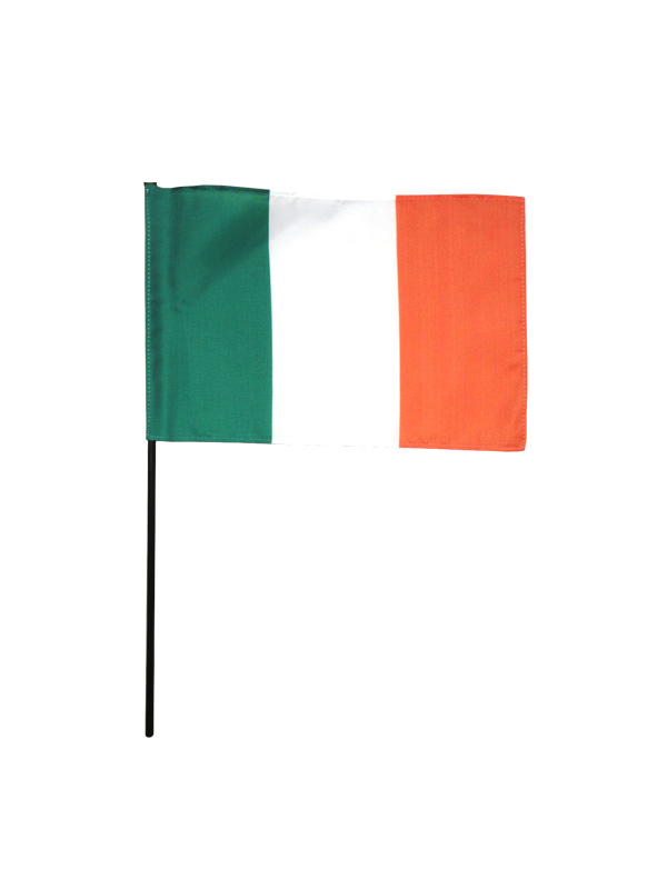 Ireland Plastic Hand Held Flag 30cm x 20cm