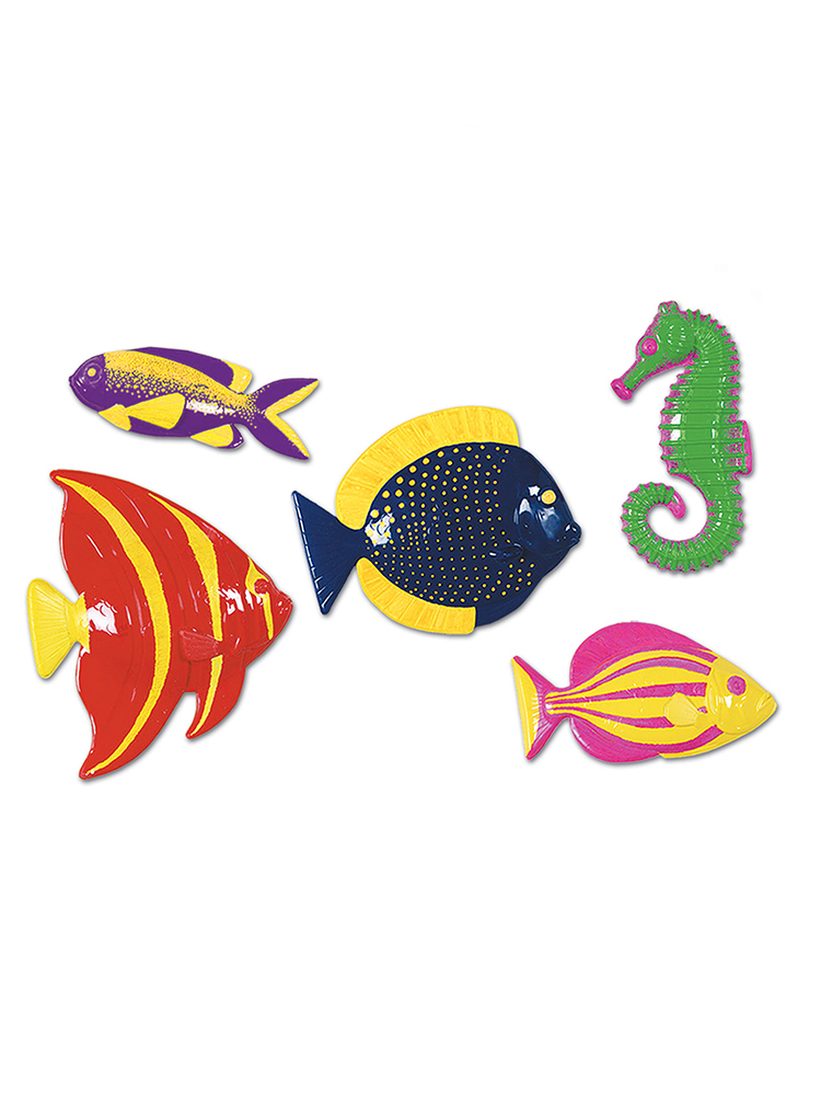 Plastic Tropical Fish Decorations