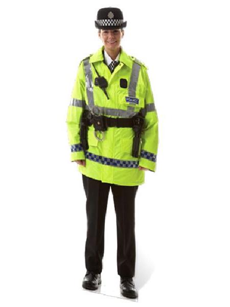 Policewoman Real Life Cardboard Cutout