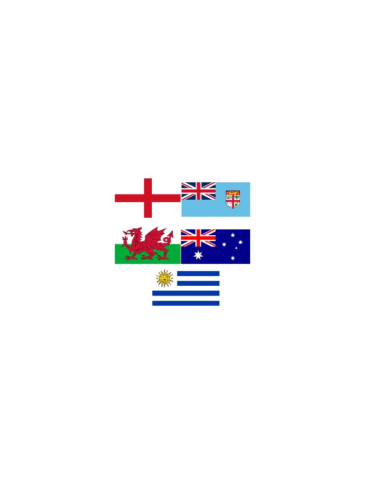 Rugby World Cup Flag Pack Pool A