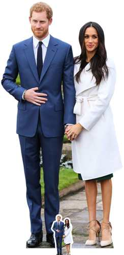 Prince Harry & Meghan Markle Cardboard Cutout