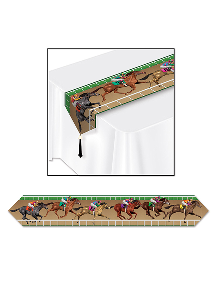 "Printed Horse Racing Table Runner 11"" x 6'"