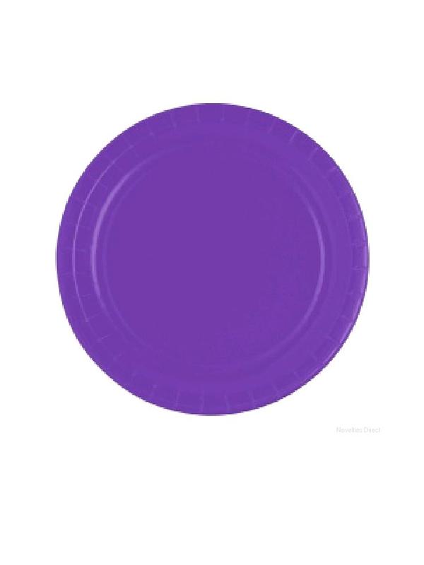 "Purple 9"" Paper Plates"