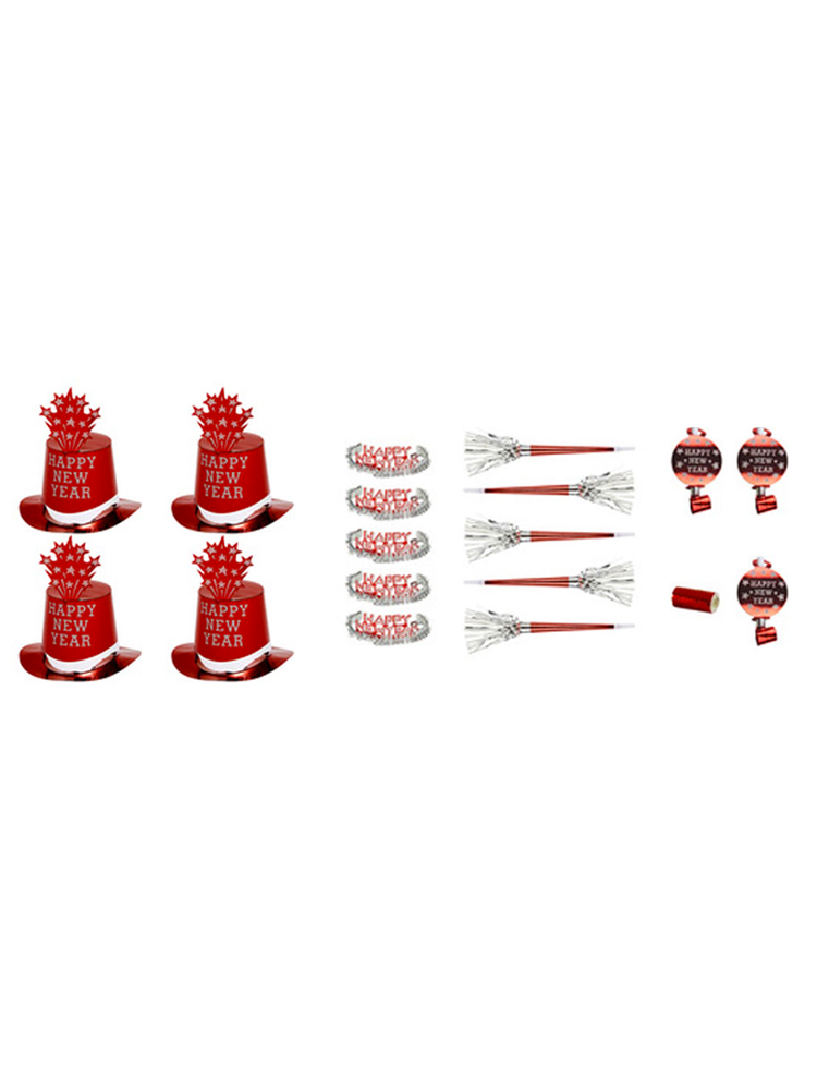 Red New Year Party Kit  For 10 People