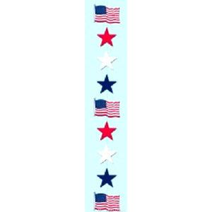 Red, White and Blue Star Stringer