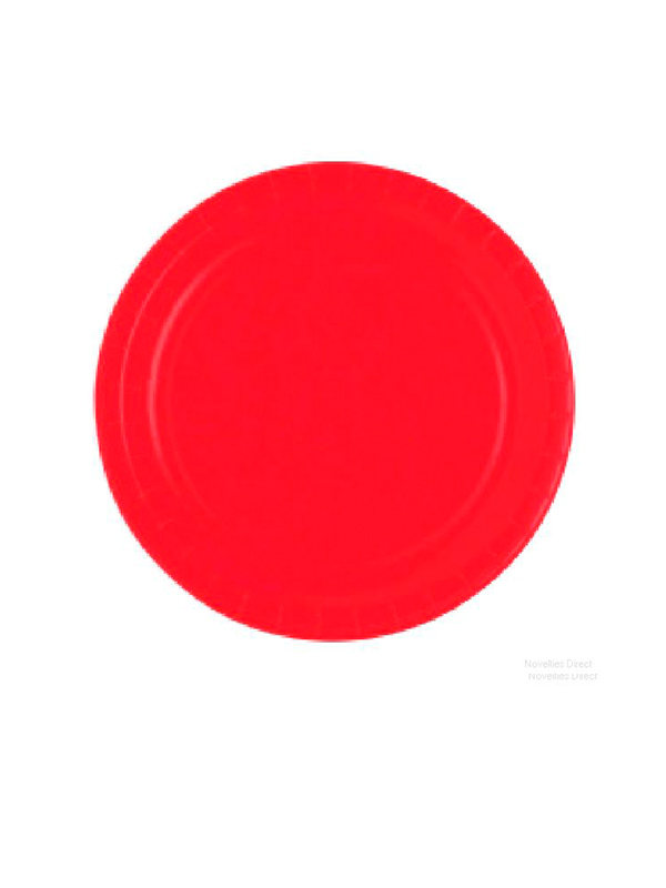 "Ruby Red 9"" Paper Plates - 8 plates per pack"