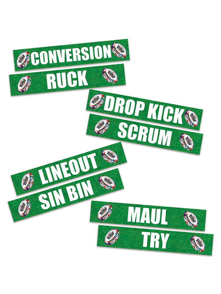 Rugby Phrase Cutouts