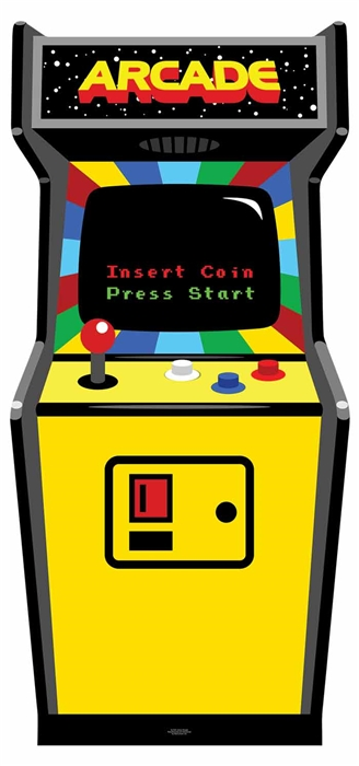 80's Colour Golden Age Video Arcade Game - Cardboard Cutout