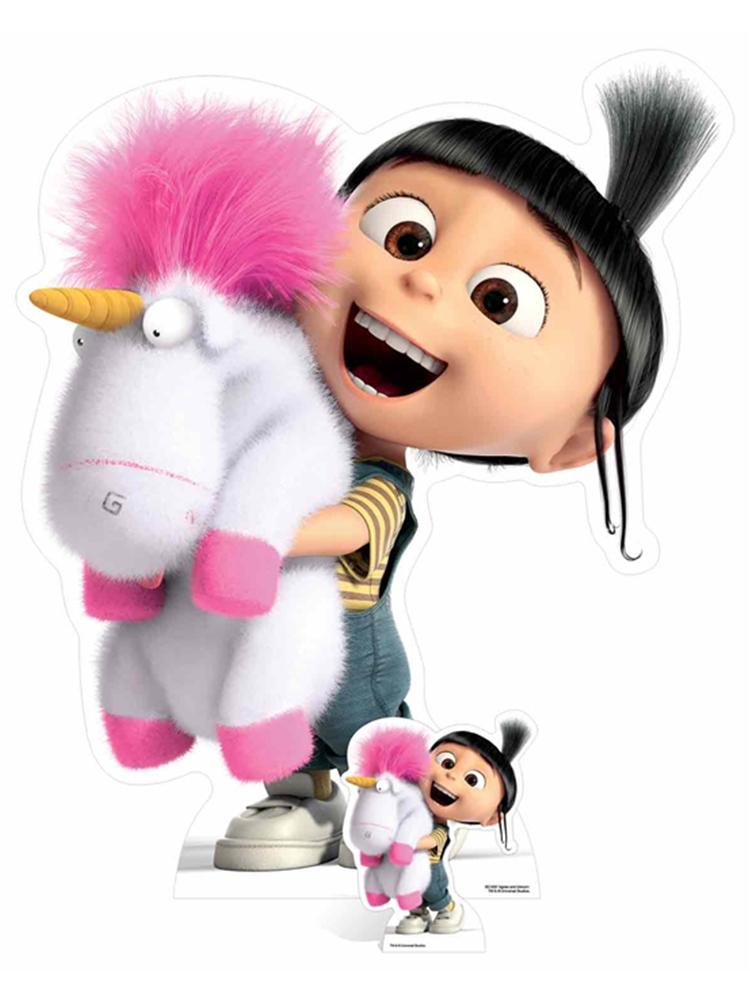 Agnes and Fluffy Unicorn - Cardboard Cutout