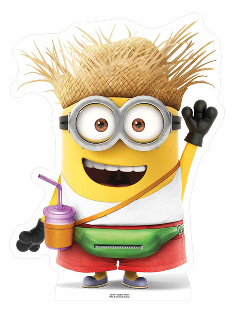 Vacation Minion with drink Star-Mini Cutout