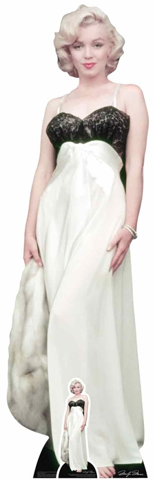 Marilyn Monroe - White gown and fur Cardboard Cutout
