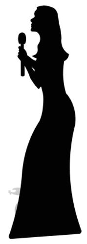 Singer (Silhouette) - Cardboard Cutout