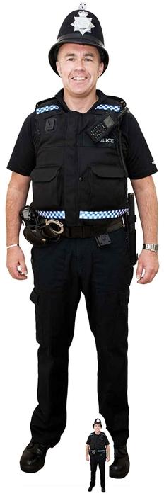 Policeman (Bobby Hat) - Cardboard Cutout