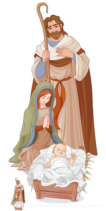 Nativity Scene Christmas - Cardboard Cutout