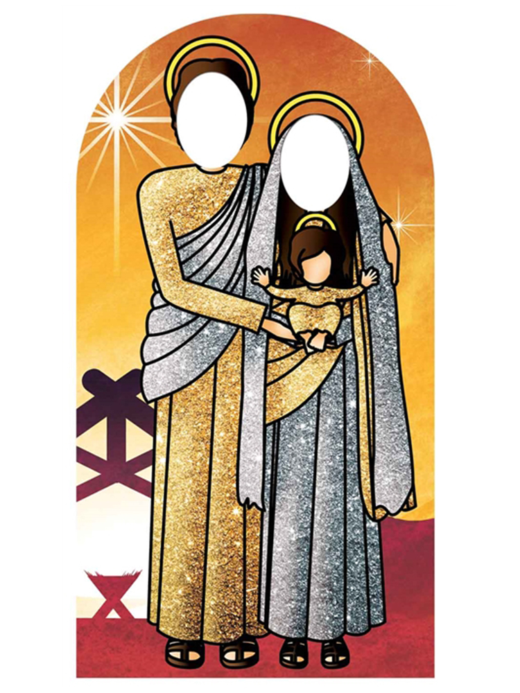 Holy Religious Sacred Family (Sunset Gold and Silver) Adult Stand-in