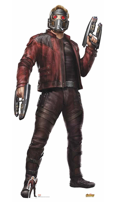 Star-Lord (Avengers: Infinity War) Chris Pratt with Helmet - Cutout