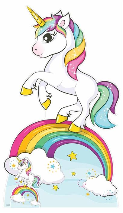 Rainbow Unicorn - Cardboard Cutout