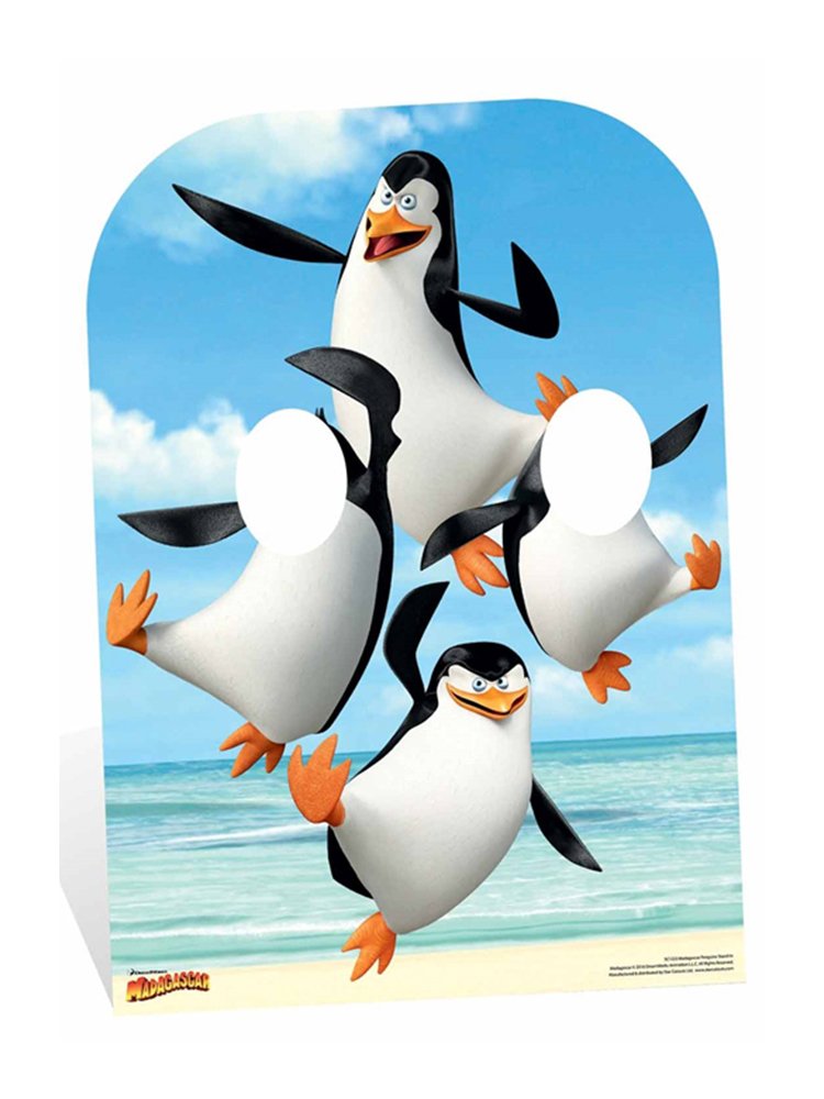 Madagascar Penguins Only Stand-In Child Sized) - Cardboard Cutout