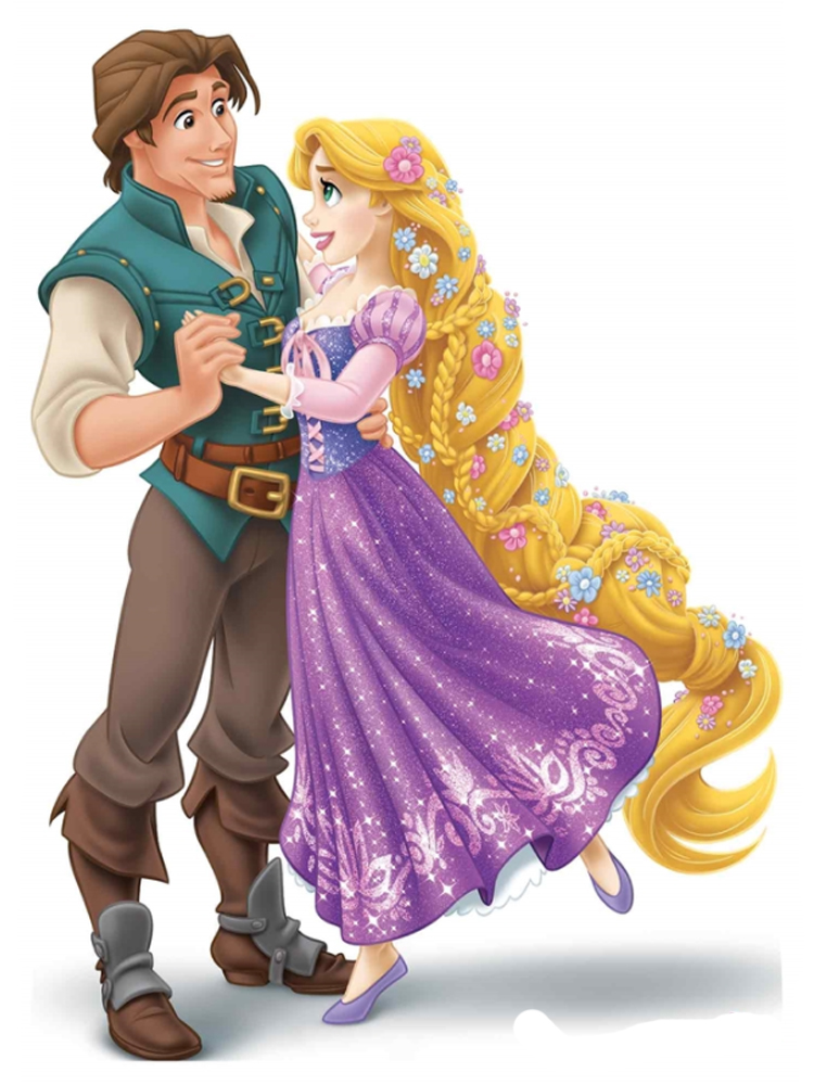 Disney Princess Rapunzel and Prince Flynn Rider Mini Cardboard Cutouts