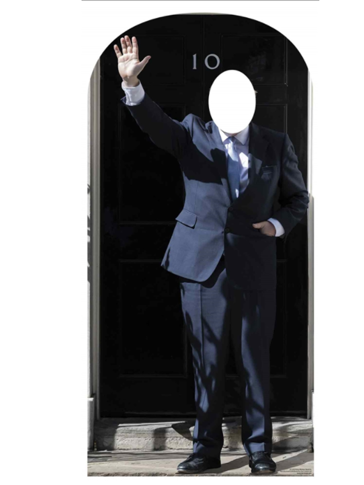 SC1453 10 Downing Street Prime Minister Stand In Perfect for Easy Politician Costume , Political Theme Parties and Events Height 184cm