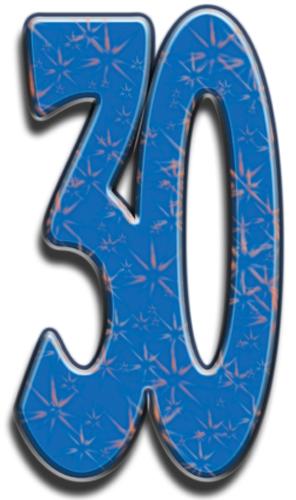 Number 30 - Cardboard Cutout