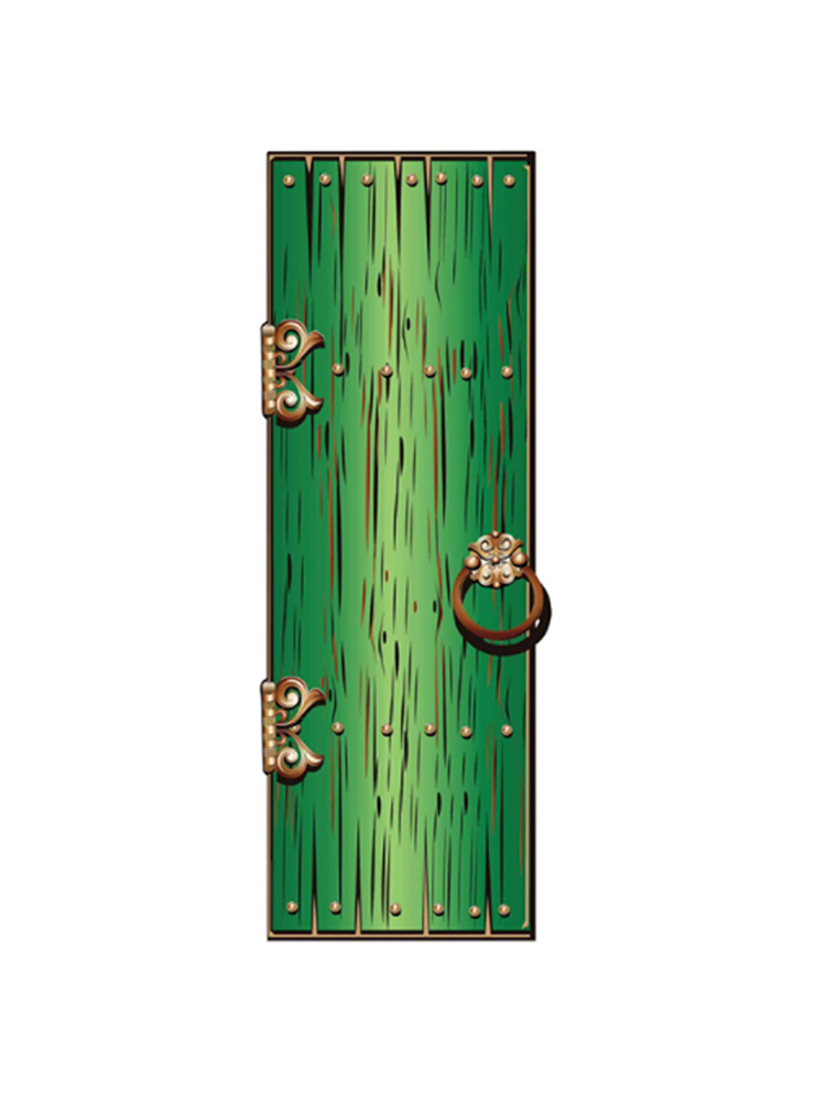 Fantasy/ Magical/ Fairy Single Doors Large Green