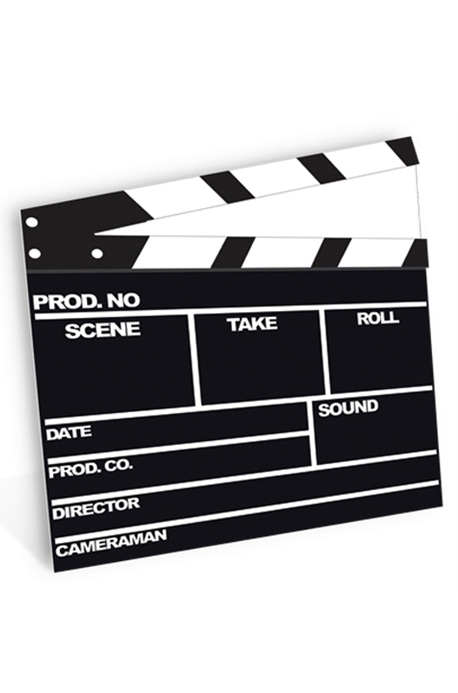 Film Clapper - Cardboard Cutout