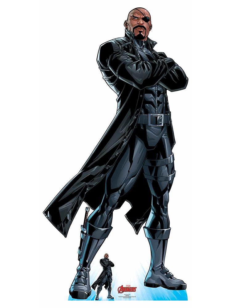 Nick Fury Long Black Coat