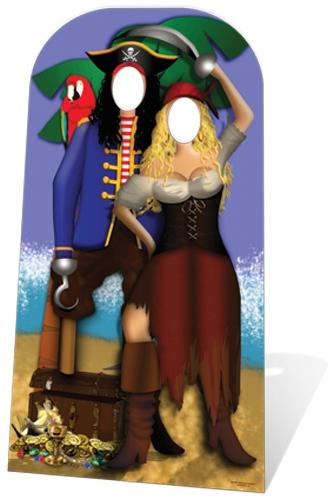Pirate Couple Stand- In - Cardboard Cutout