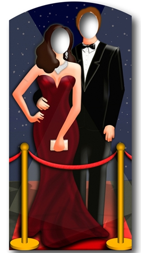 Red Carpet VIP Hollywood Couple Stand- In - Cutout