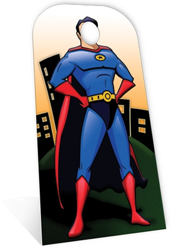 Superhero 'Stand- In' - Cardboard Cutout