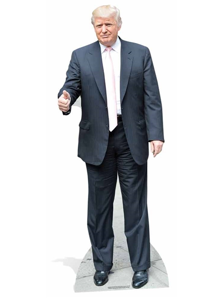Donald Trump Pink Tie Thumbs Up President of United States of America Life-size Cardboard Standee