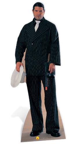 Gangster (in black pinstripe suit) - Cardboard Cutout