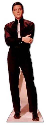 Elvis Presley in Black Suit and White Tie Cardboard Cutout